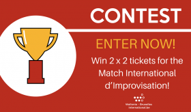 Contest: Win 2 x 2 tickets for the Match International d'improvisation in London!